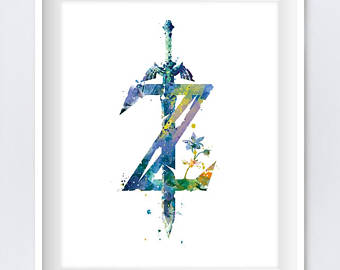 340x270 Zelda Watercolor Etsy