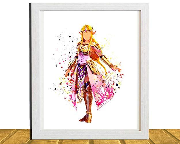 625x500 Zelda, Gamer Inspired Wall Art, Princess Zelda